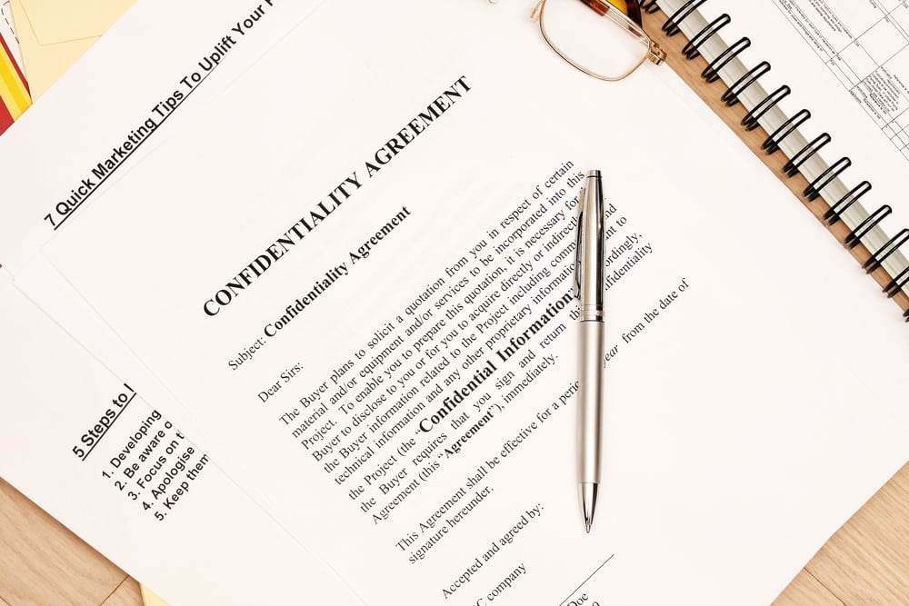 confidentiality agreements business sale